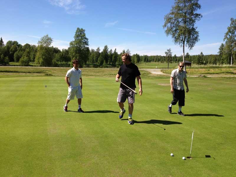 golf med grabbarna